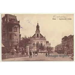 Pécs / Hungary: Irgalmasok Utcája / Street Of Mercy (Vintage...