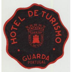 Hotel De Tursimo - Guarda / Portugal (Vintage Luggage Label)