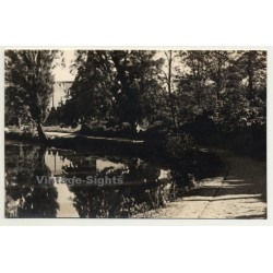 Park Avenue On Lake Shore / Tree Reflections (Vintage RPPC...