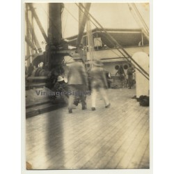 Trip To Congo-Belge: Scene On the S.S. Anversville Deck...