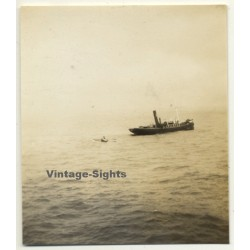 Lisbon: Port Pilot In Dinghy On His Way To S.S. Anversville...