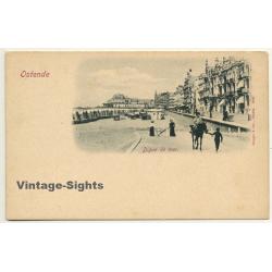 Ostende / Belgium: Digue De Mer / Donkey (Vintage Postcard...