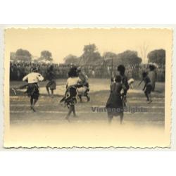 Congo-Belge: Dancers At Tribal Meeting / Ceremonial Dress...