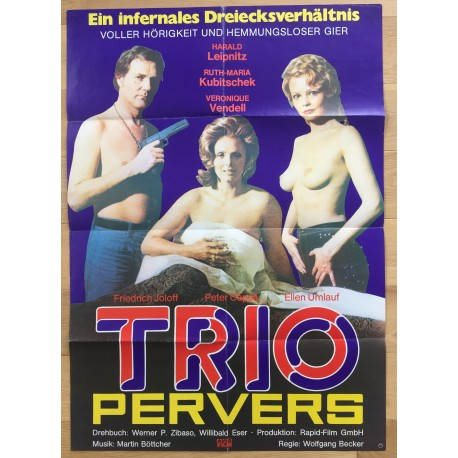 Trio Pervers - Original 1970 German Movie Poster / Ruth Maria Kubitschek