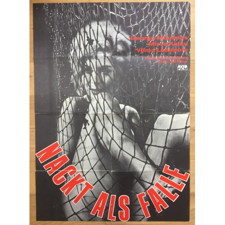 Nackt Als Falle - Original 1966 German Movie Poster / George Moutsious