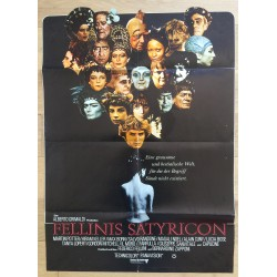 Fellini Satyricon - Original Vintage German Movie Poster 1969 (Rare Die-Cut)