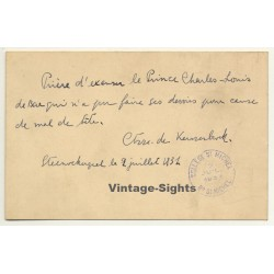 Prince Charles-Louis D'Autriche - Excuse Letter For Being...