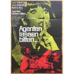 Agenten Lassen Bitten... - Michel Piccoli (Vintage German Movie Poster 1968)