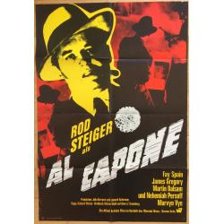 Al Capone - Rod Steiger (1968 Vintage German Movie Poster A1)