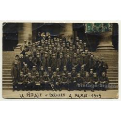 Société La Pedale D'Ixelles A Paris (Vintage RPPC 1909)