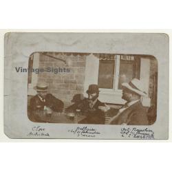 Belgium: 3 Guys In Bistro / Close - Architecte, Flagothier -...