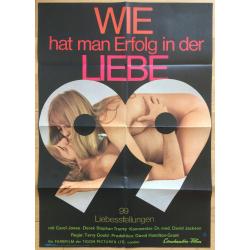 99 Stellungen / Love Variations - David Hamilton (1970 Vintage German Movie Poster A1)