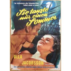 Sie Tanzte Nur Einen Sommer - Ulla Jacobson (1964 Vintage German Movie Poster A1)