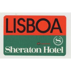Sheraton Hotel - Lisboa / Portugal (Vintage Luggage Label)