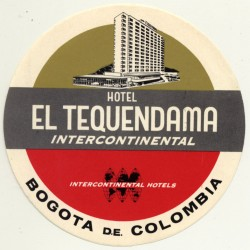Hotel Tequendama Intercontinental - Bogota / Colombia (Vintage...