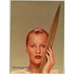 Female Face Study / Make-Up - Nail Polish (Vintage Photo 1980s...