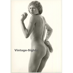 Nude Female Shower Study *5 / Shower Cap (Vintage Photo 1980s...