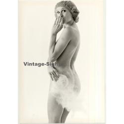 Nude Female Shower Study *9 / Cigarette (Vintage Photo 1980s...