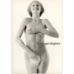 Nude Female Shower Study *10 / Smile - ABS (Vintage Photo...