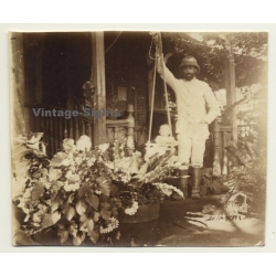 Congo-Belge: Colonialist Proudly Swings His Baby On Porch *2...