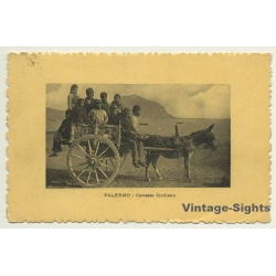 Palermo / Sicily: Carretto Siciliano - Donkey Cart (Vintage...