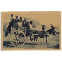 Palermo / Sicily: Carro Siciliano - Donkey Cart (Vintage...