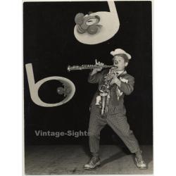 Musical Clown Tino Zacchini / Circus (Vintage Photo Heinz...