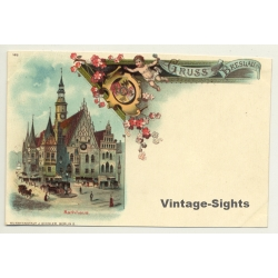 Gruss Aus Breslau - Rathaus / Kunstanstalt Miesler (Vintage PC...