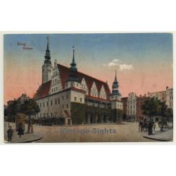 Brieg - Brzeg / Schlesien: Rathaus (Vintage Postcard 1928)