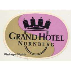 Nürnberg / Germany: Grand-Hotel (Vintage Luggage Label)