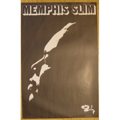 Memphis Slim - Vintage Jazz Poster For Barclay Records 1970s