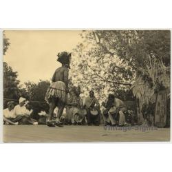 Africa: Tribal Dancer & Musicians / Headdress - Bamileke?...