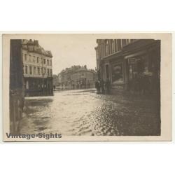 Liège - Belgium: Flood - Inonder - Hochwasser (Vintage RPPC...