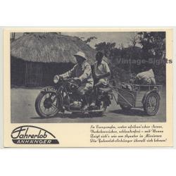 Motorrad & Fahrerlob Anhänger / Africa - Indigenous (Vintage...