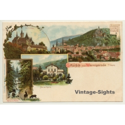 Germany: Gruss Aus Wernigerode a/Harz (Vintage PC Litho ~1900s)