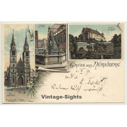 Germany: Gruss Aus Nürnberg / Kunstverlag Lautz (Vintage PC...