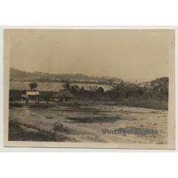 Buhama / Tanzania: Landscape View / Hut - Steppe (Vintage...