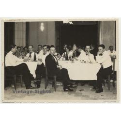 Léopoldville / Congo Belge: Colonial Upper Society Banquet...