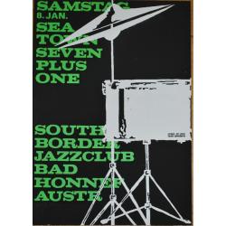Sea Town Seven Plus One - Vintate Jazz Concert Screen Print (Korndörffer)
