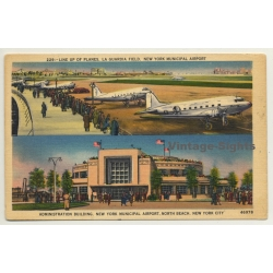 New York / USA: La Guardia Field / Municipal Airport (Vintage...