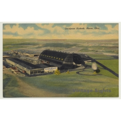 Akron / USA: Goodyear Airdock / Zeppelin - Airport (Vintage...