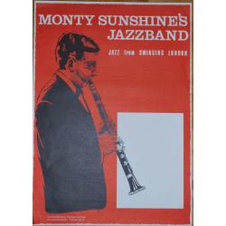 Monty Sunshine's Jazzband: Jazz From Swingin London - Vintage Jazz Concert Poster
