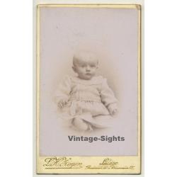 L. H. Zeyen - Liège: Tiny Bold Baby Girl (Vintage Carte De...