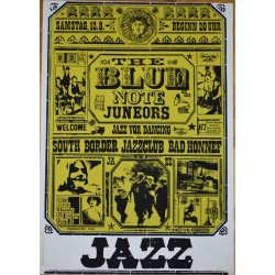 The Blue Note Juneors: Jazz For Dancing - Vintage Concert Screen Print (Korndörffer)