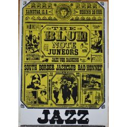 The Blue Note Juneors: Jazz For Dancing - Vintage Concert Screen Print (Korndörffer)
