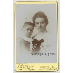 R. De Man - Bruxelles: Portrait Mother & Baby Boy (Vintage...