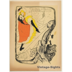 Toulouse-Lautrec: Jane Avril (Vintage Silkscreen Print ~ 1950s)