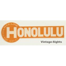 N.Y.K. Shipping Line To Honolulu / USA (Vintage Luggage Label)
