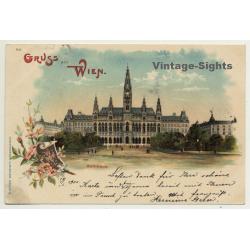 Vienna / Austria: Rathaus / Gruss Aus Wien (Vintage PC Litho...