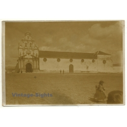 La Paz / Bolivia: Large Castle / Castello (Vintage Photo Sepia...